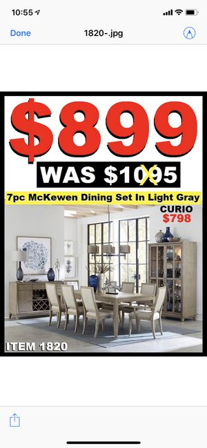 Dining set 7pc $899 for Sale in Fremont, CA