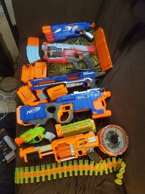 Nerf guns and clips (bullets not included) for Sale in Portland, OR