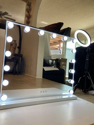 "23"" Hollywood makeup Mirror Vanity Mirror LED light Dimmer for Sale in Covina, CA"