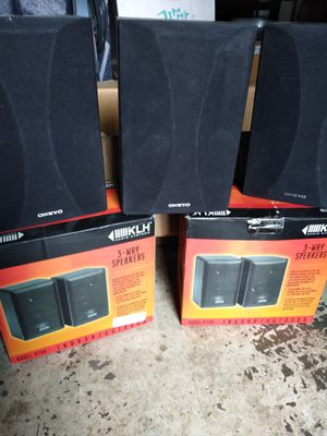 KLM Audio System 3Way Ind/Outdoor Speakers (4) plus 3 Onkyo Speakers for Sale in Stockton, CA
