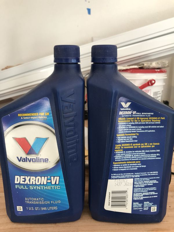 Valvoline Dexteon VI Transmission Fluid 1 quart bottle for Sale in Seattle,  WA - OfferUp