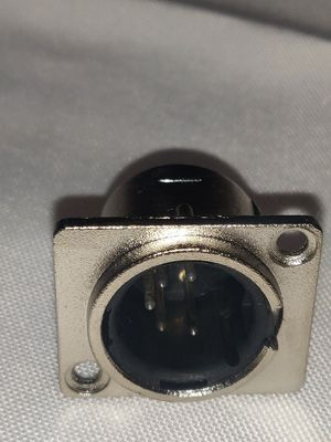 5 pool XLR male panel connector silver and black for Sale in Colton, OR