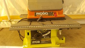 Ridgid table sander and ryobi table saw for Sale in Spring Valley, CA
