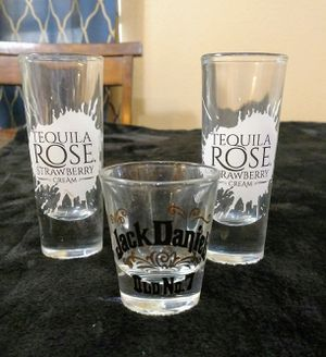 Tequila Rose & Jack Daniels Shot Glasses for Sale in Yucaipa, CA