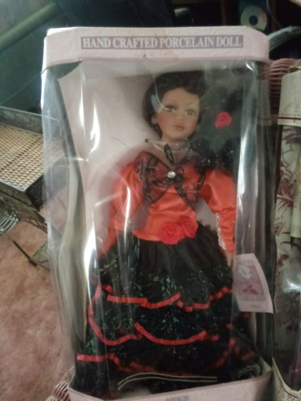 Two large porclin dolls new in box