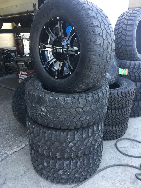 Offroad 18 Inch Rims W 33 Inch Mud Tires For Dodge Or Tundra For