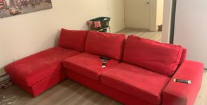 Red sectional couch for Sale in BETHEL, WA