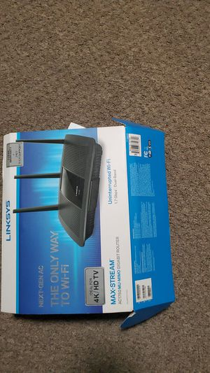 Linksys - Max Stream AC1750 MU-MIMO Gigabit, 1.7 Gbps, Dual-Band Uninterrupted Wi-Fi Router - Black for Sale in Oklahoma City, OK