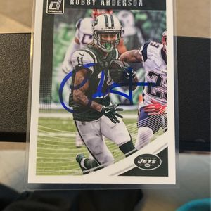 Robby Anderson hand signed autograph laminated for Sale in Falls Church, VA