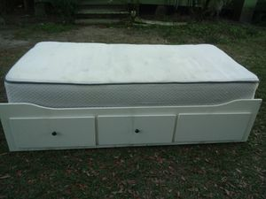 IKEA twin bed frame with mattress for Sale in Fort Meade, FL