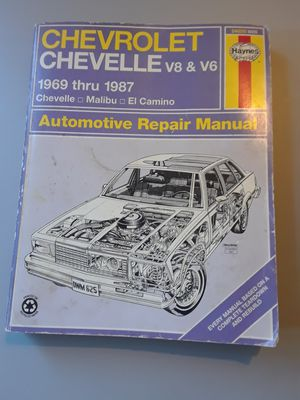 Haynes automotive repair manuel for 1969 - 87 Chevy/Chevelle for Sale in Petaluma, CA