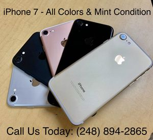 SALE: Unlocked iPhone 7 32gb Used All Colors Excellent Condition for Sale in Royal Oak, MI