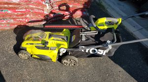 RYOBI ELECTRIC PUSH MOWER AND HEDGER for Sale in Columbus, OH