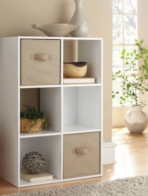 New!! organizer, bookcase, bookshelves, 6 cube organizer, storage unit, console, TV stand, lamp stand, living room furniture, entrance furniture , for Sale in Phoenix, AZ