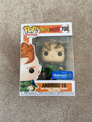 Dragonball z Android 16 funko pop Walmart excl metallic for Sale in Oswego, IL