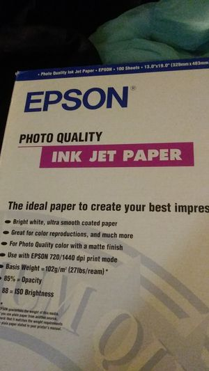 Epson photo quality ink jet paper for Sale in Los Angeles, CA