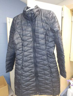 Women's PATAGONIA Fiona Down Coat Puffer Jacket Size Medium Black Knee Length for Sale in Gaithersburg, MD