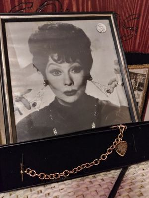 I LOVE LUCY PICTURE AND 14K CHARM BRACELET for Sale in Bremerton, WA