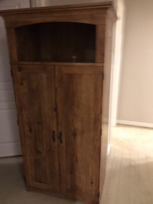 Office closet with file drawers and room for desktop and key board tray or a place for a home printer for Sale in Portland, OR