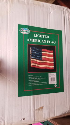 Lighted American flag (new) for Sale in Downey, CA