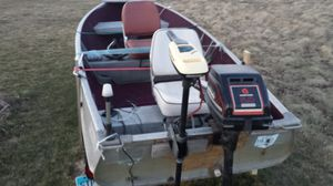 14' Meyer Fishing Boat and 5hp Motor and Trailer for Sale in Bowling Green, OH