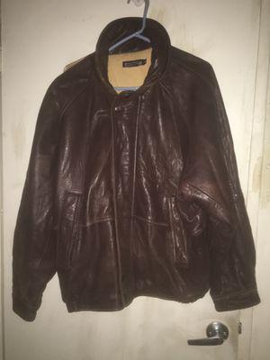 Men's size 42 large leather coat for Sale in Alexandria, VA