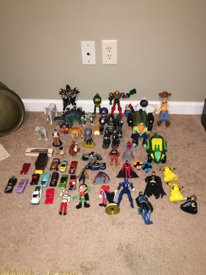 Lot of toy figures and a couple diecast cars for Sale in Cumming, GA