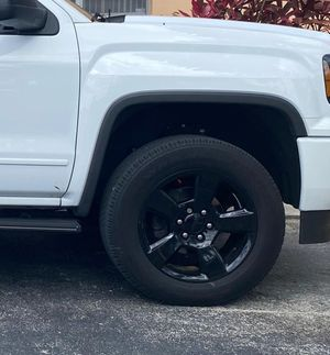 """4 used tires with all black 20"""" rims for sale for Sale in Hollywood, FL"""