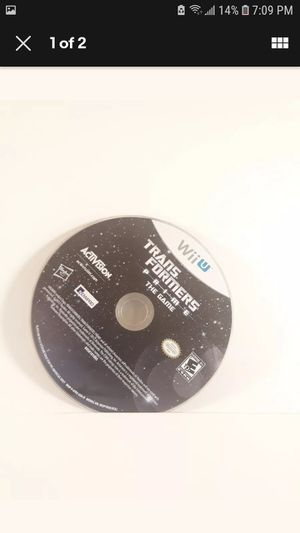 Transformers Prime (Nintendo Wii U, 2012) ***DISC ONLY*** for Sale in Los Angeles, CA