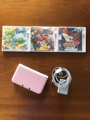 Nintendo 3DS XL Pink/White with 3 games for Sale in Seattle, WA