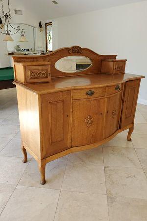 Beautiful Solid Oak Sideboard Buffet for Sale in Orange, CA
