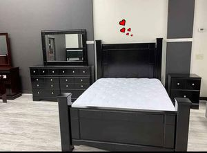 ♻️New Ashley♻️4-piece Black Poster Bedroom Set for Sale in Jessup, MD