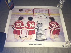 20X25 Detroit red wings posterize on Stanley Shanahan Yzerman Federov 6 for Sale in Rochester Hills, MI