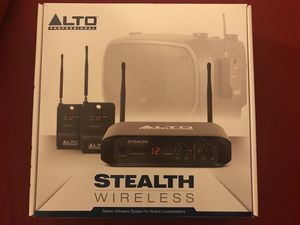 Alto Professional Stealth Wireless | Stereo Wireless System for Active Loudspeakers (Transmitter + 2 Receivers for Sale in Boston, MA