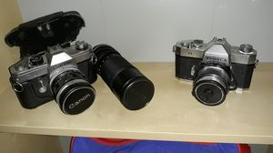 Old Yashica and Canon SLR cameras for Sale in Orlando, FL