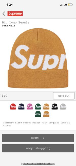 Supreme big logo beanie Jesus IRNI for Sale in Cleveland, OH