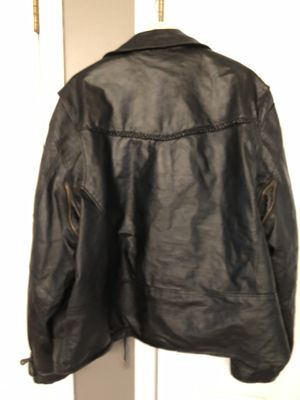 Riding Leather Jacket ( for motorcycle) Vented Mans Size 52 very heavy for Sale in Sunbury, OH