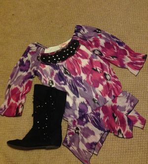 Rocker cowgirl boots and girls top for Sale in New Cumberland, PA