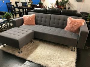 Gray Sofa Bed with Ottoman for Sale for sale  Atlanta, GA