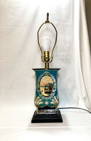 Hand painted metal table lamp for Sale in Houston, TX