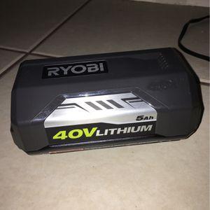 Ryobi 40V 5amp Lawn Mower Batterie for Sale in Las Vegas, NV