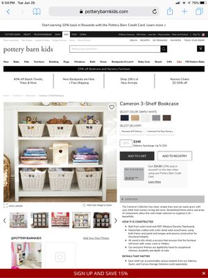 CAMERON 3-SELF BOOKCASE FROM POTTERY BARN KIDS for Sale in San Diego, CA