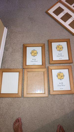 Set of 5 Wood Picture Frames 8x10 for Sale in Sanford, FL