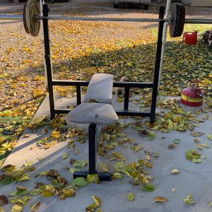 Bench Press And Squat Rack No Weights/Bar for Sale in North Las Vegas, NV