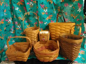 Longaberger Baskets (lot of 6) for Sale in Los Angeles, CA
