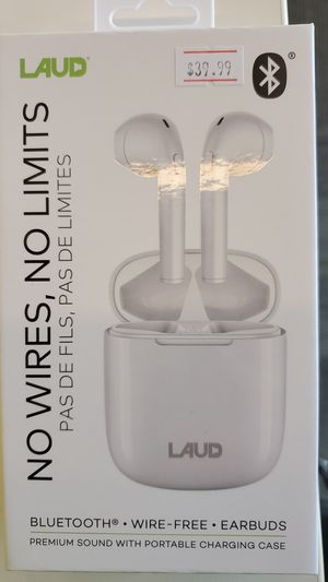 LAUD Bluetooth/Wireless ear buds for Sale in Oshkosh, WI