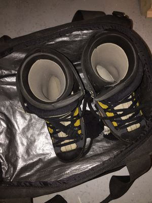 Ground snowboard shoes and boeri snowboarding/ ski helmet for Sale in Westminster, CO