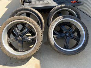 "24"" Boss wheels with Cooper tires for Sale in Clovis, CA"