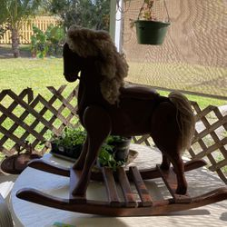 Hand Carved Antique Rocking Horse for Sale in West Palm Beach,  FL