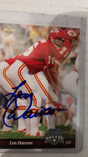 Len Dawson Autograph card for Sale in Jacksonville, FL